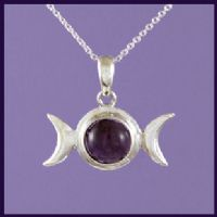 Triple Moon with Amethyst and Hidden Pentagram